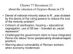 charter 77 document 23 about the situation of gypsies roma in cs