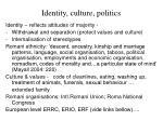 identity culture politics