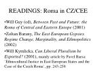 readings roma in cz cee