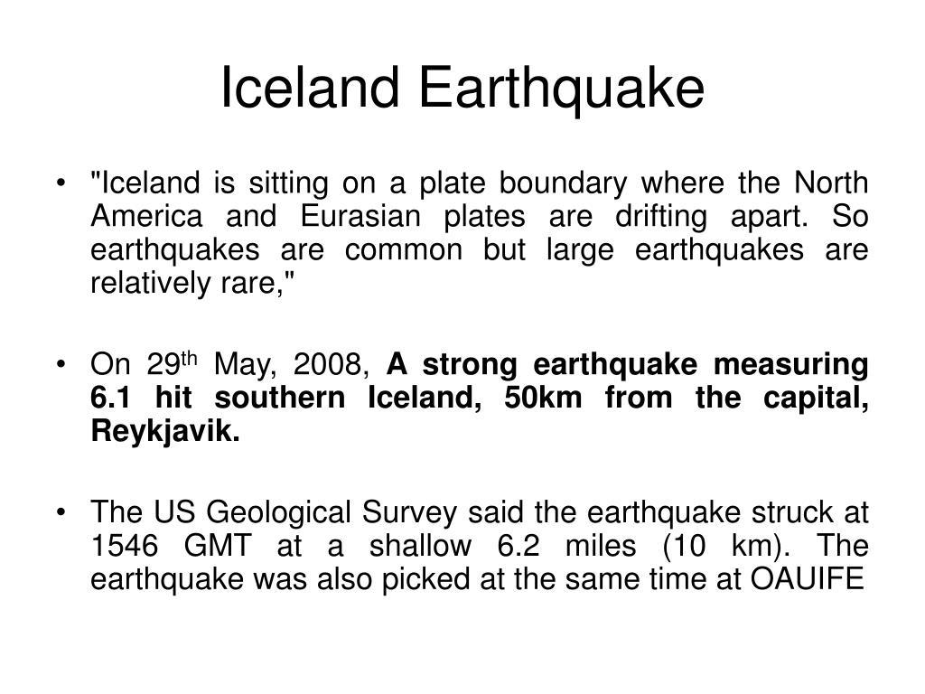 Iceland Earthquake