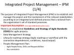 integrated project management ipm 1 4