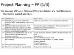 project planning pp 1 3