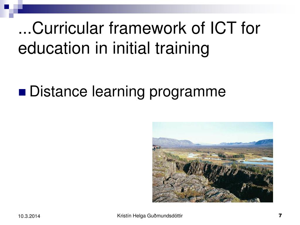 ...Curricular framework of ICT for education in initial training