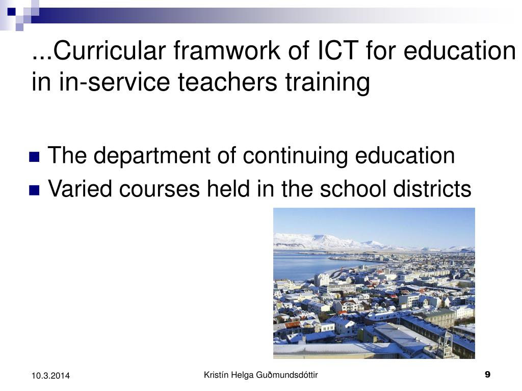 ...Curricular framwork of ICT for education in in-service teachers training