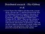 distributed research fitz gibbon et al
