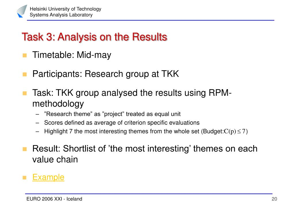 Task 3: Analysis on the Results