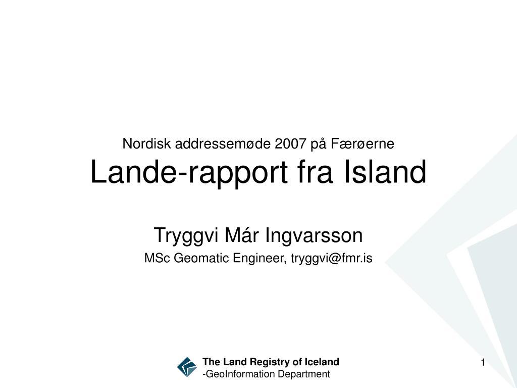 Nordisk addressem
