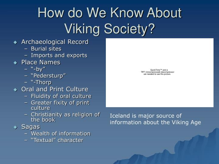How do we know about viking society
