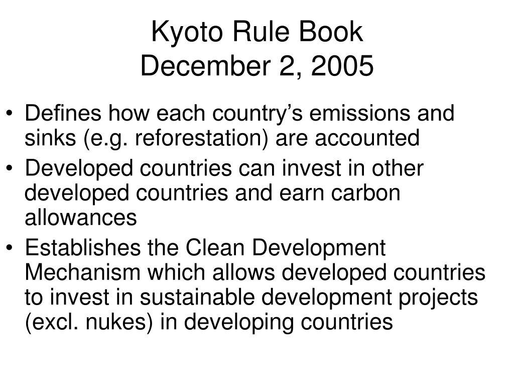 Kyoto Rule Book