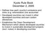 kyoto rule book december 2 2005