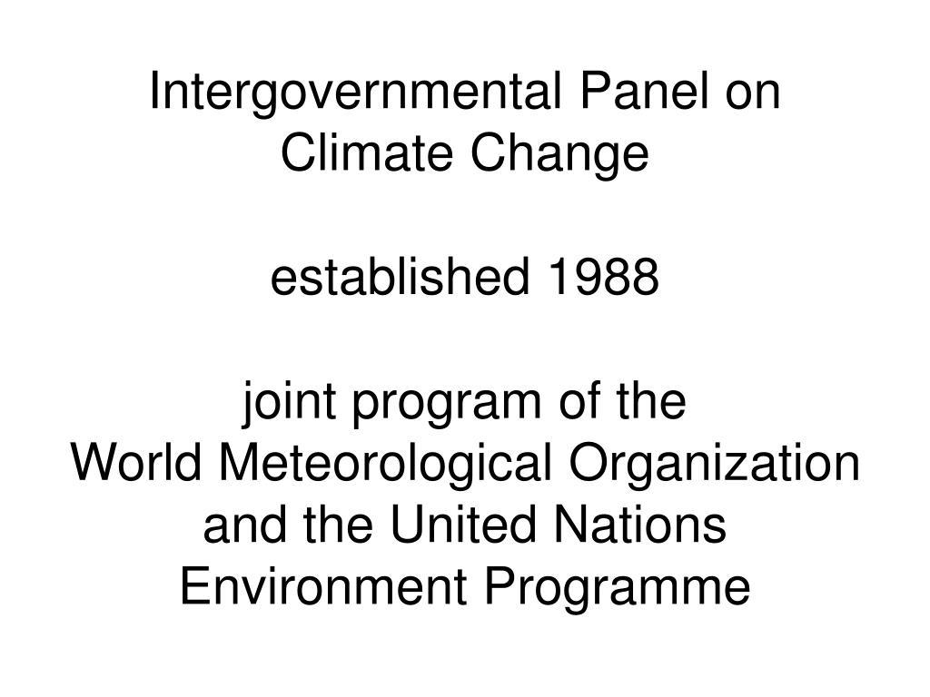 Intergovernmental Panel on