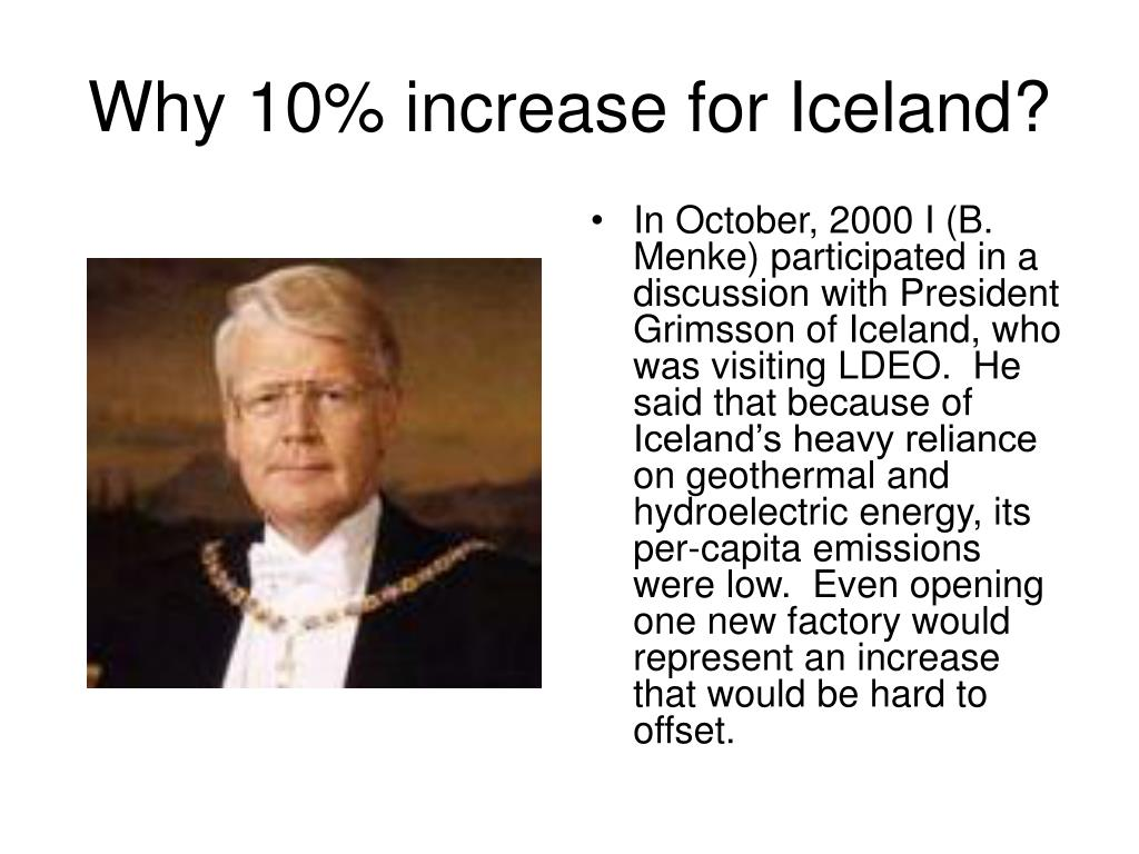 Why 10% increase for Iceland?