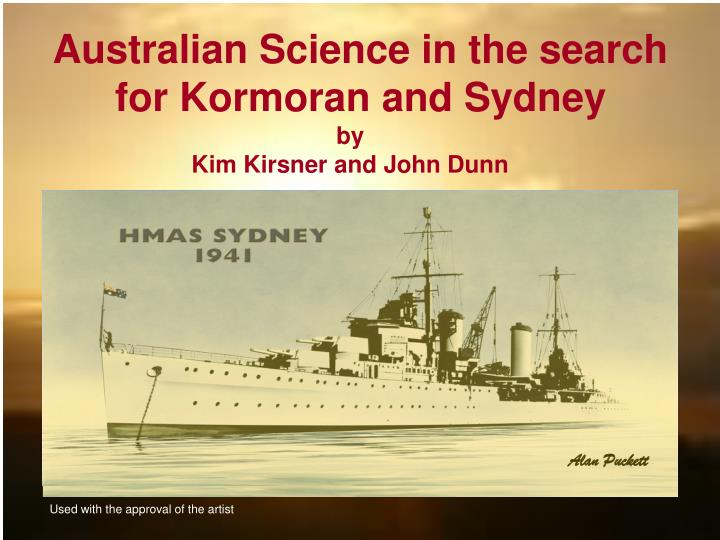 australian science in the search for kormoran and sydney n.
