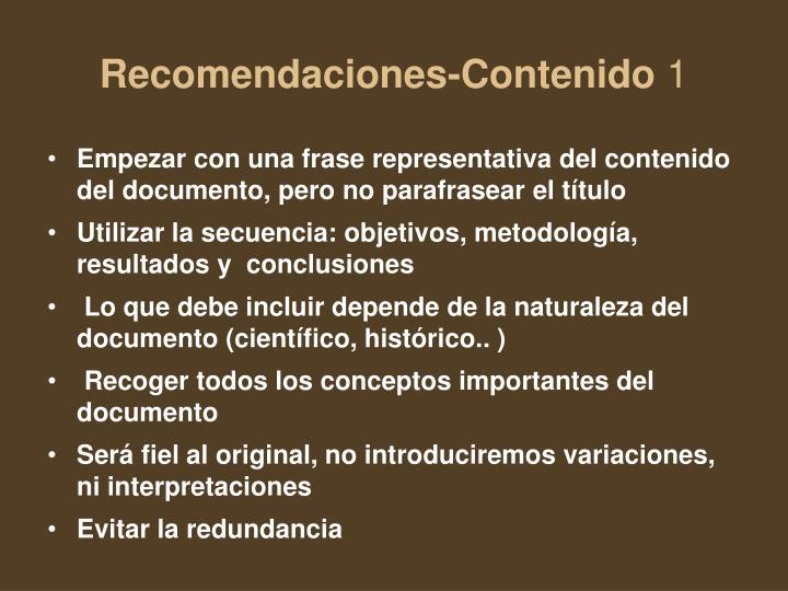 Recomendaciones-Contenido