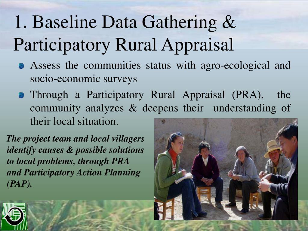 1. Baseline Data Gathering & Participatory Rural Appraisal