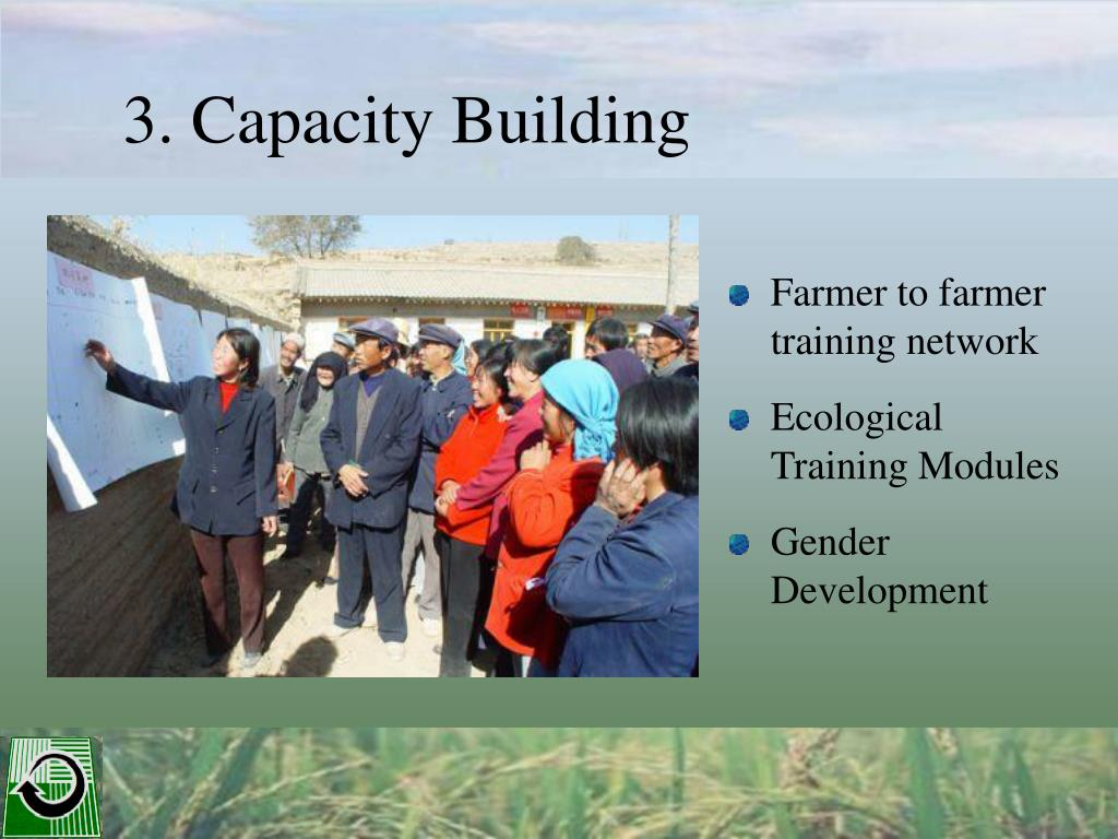 Farmer to farmer training network