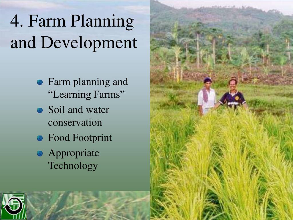 4. Farm Planning and Development