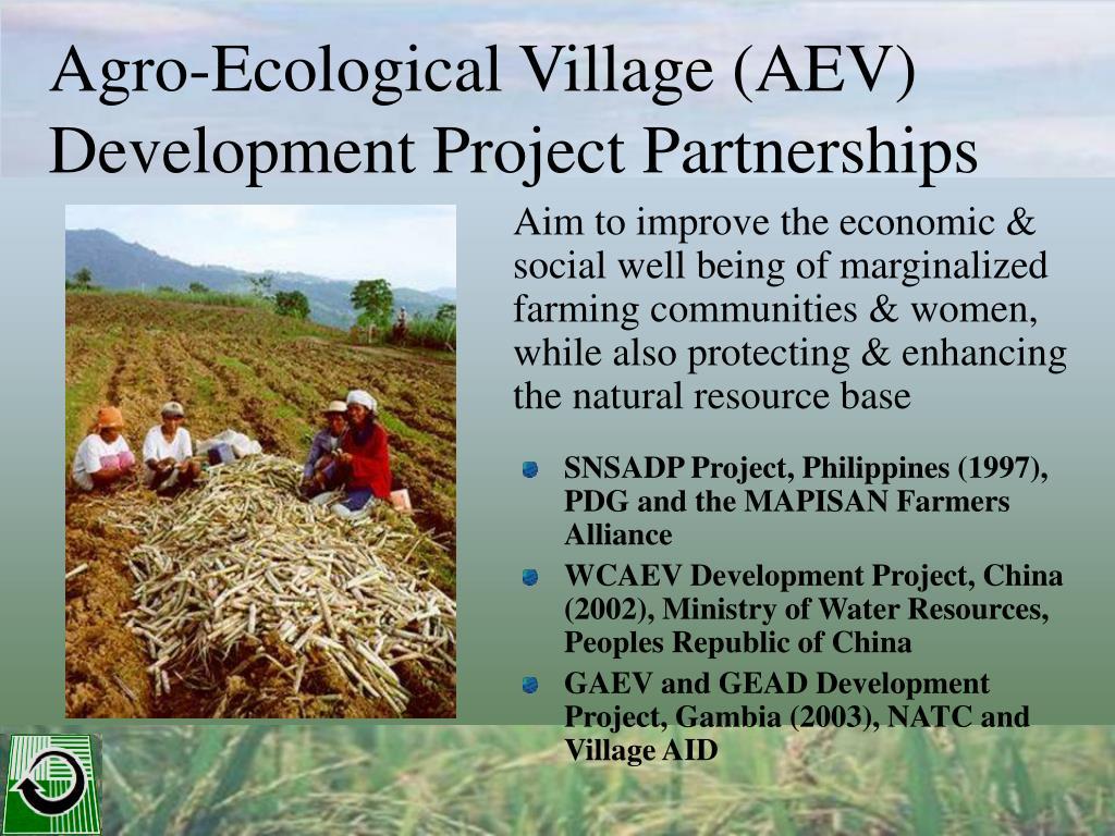 Agro-Ecological Village (AEV) Development Project Partnerships