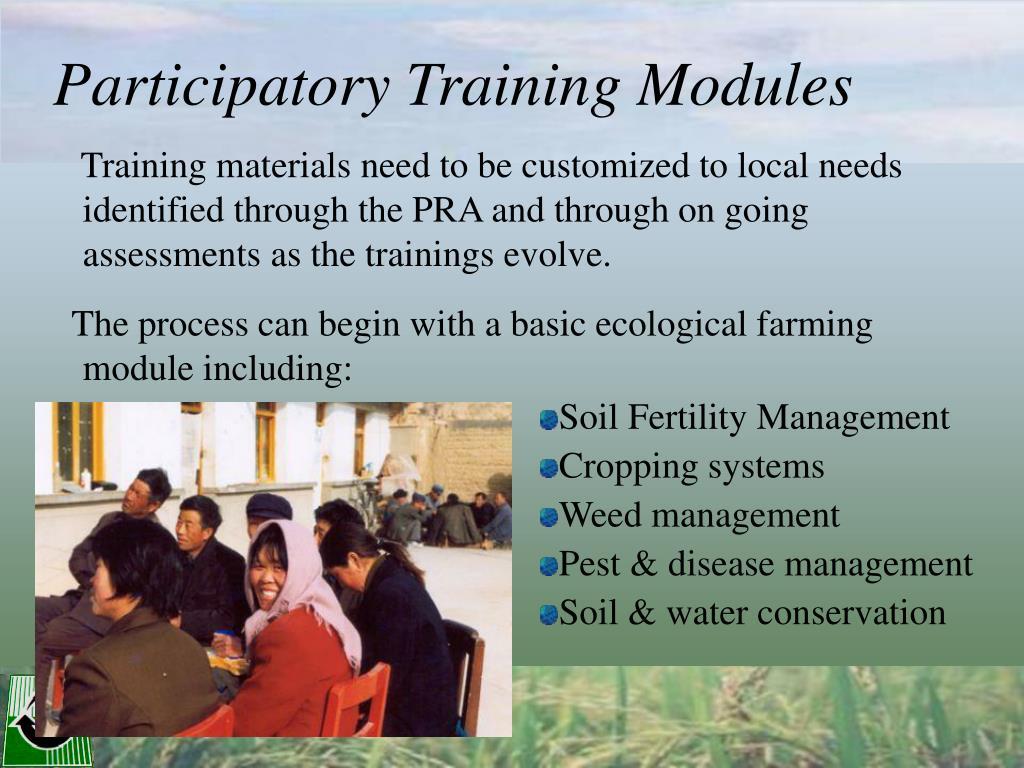 Participatory Training Modules