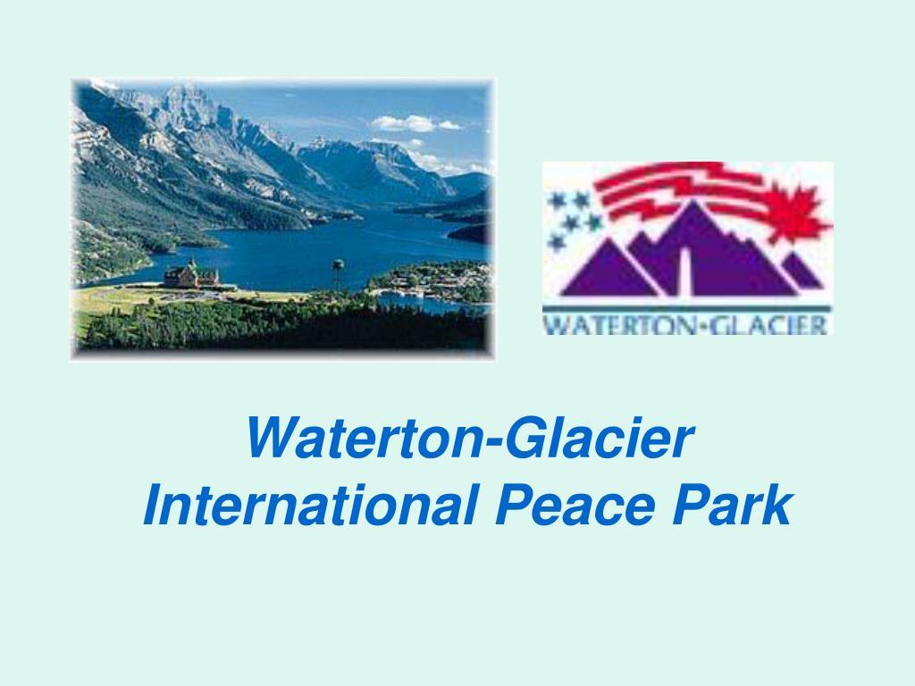 waterton glacier international peace park l.