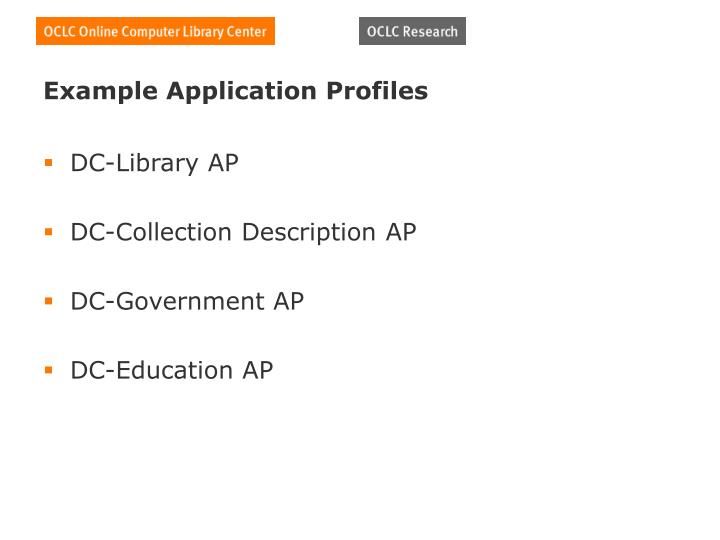 Example Application Profiles