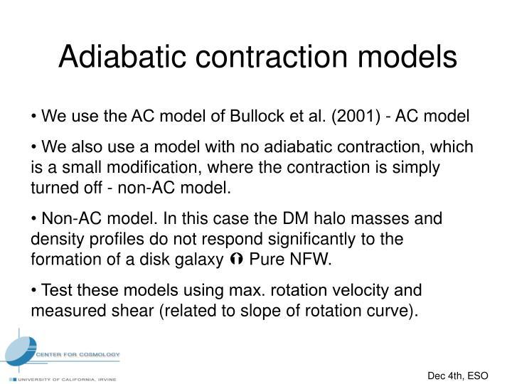 Adiabatic contraction models