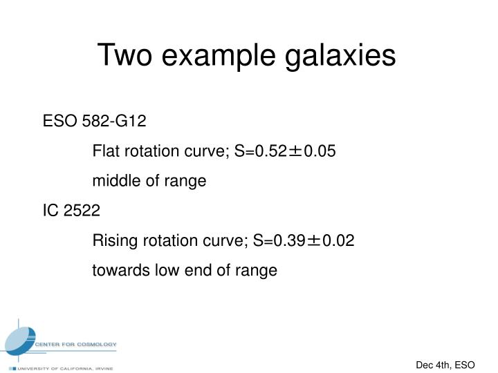 Two example galaxies