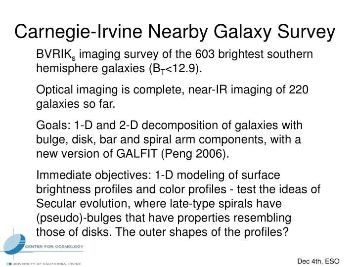 Carnegie-Irvine Nearby Galaxy Survey