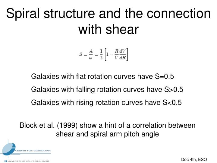 Spiral structure and the connection with shear