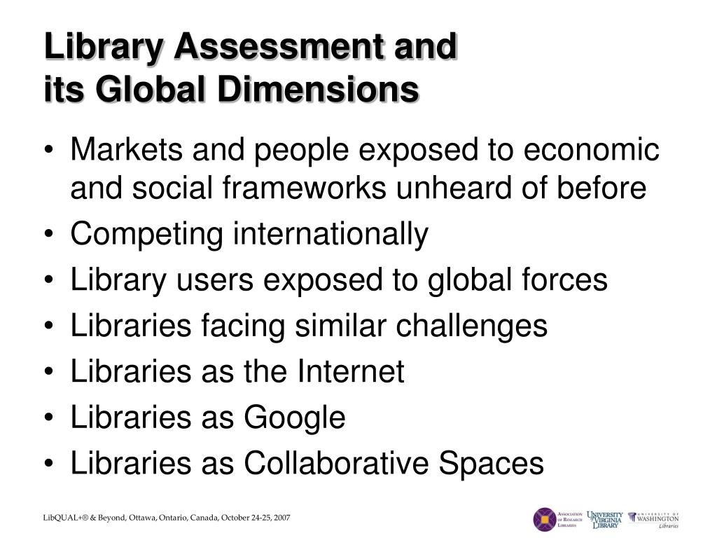 Library Assessment and