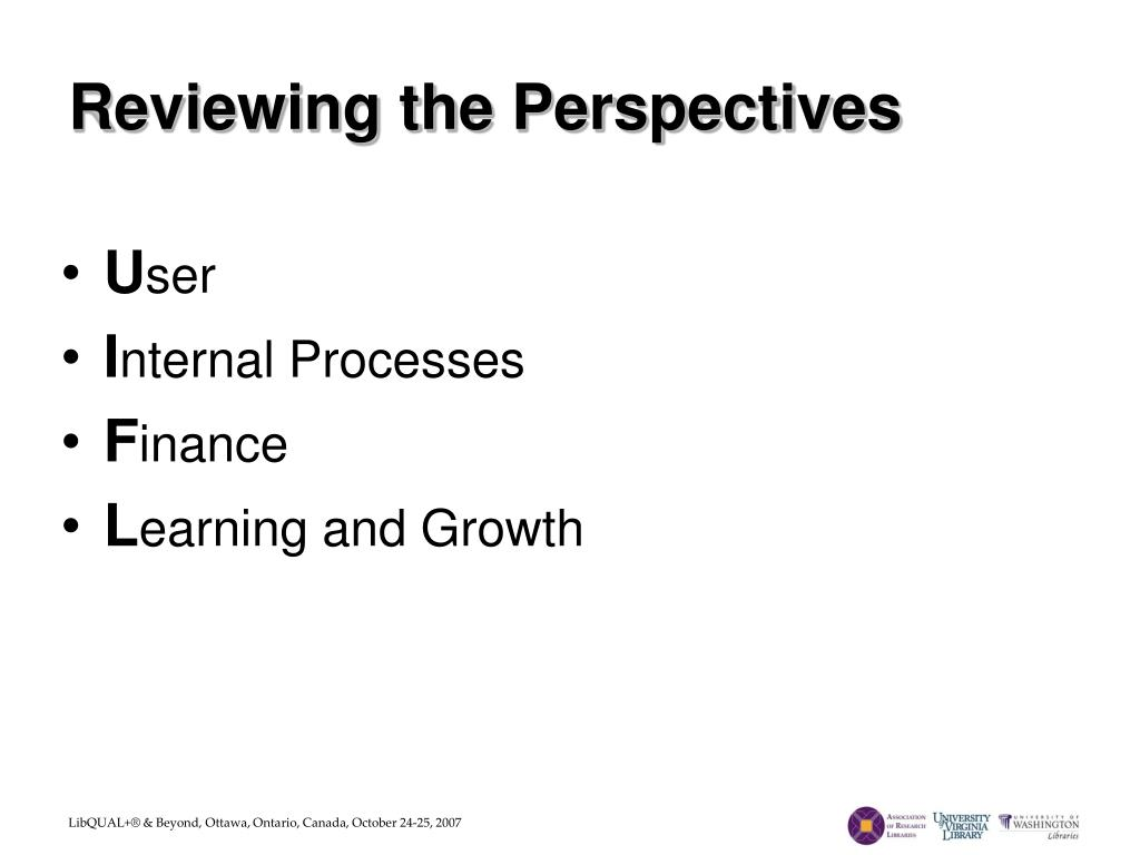 Reviewing the Perspectives