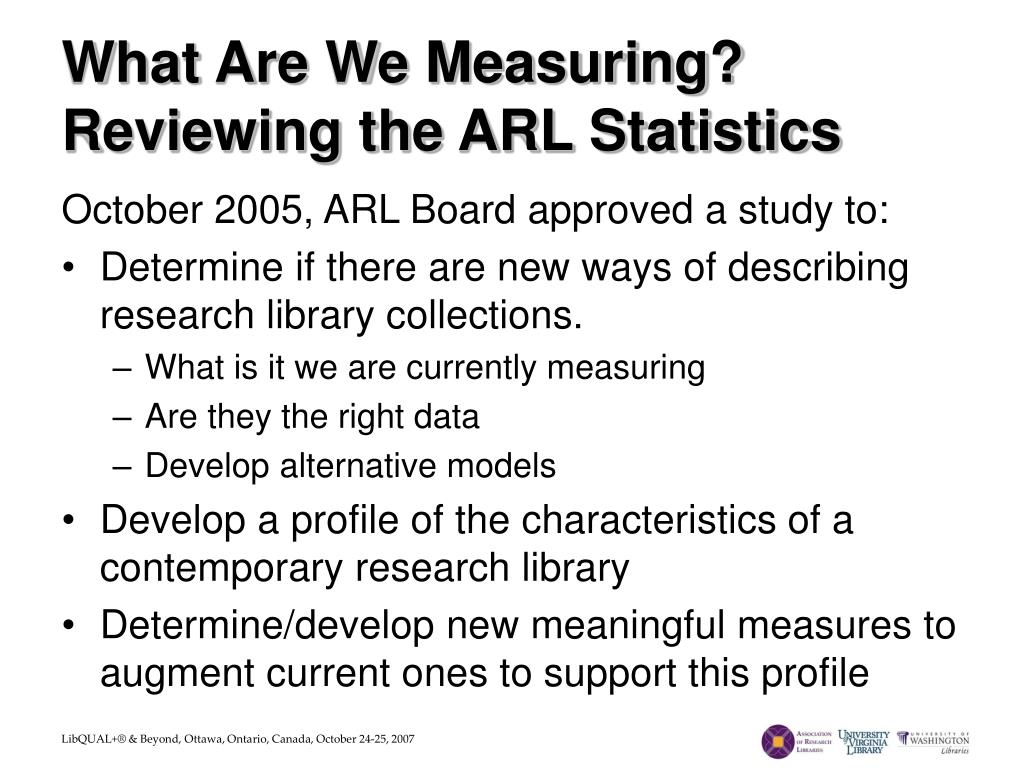 What Are We Measuring?