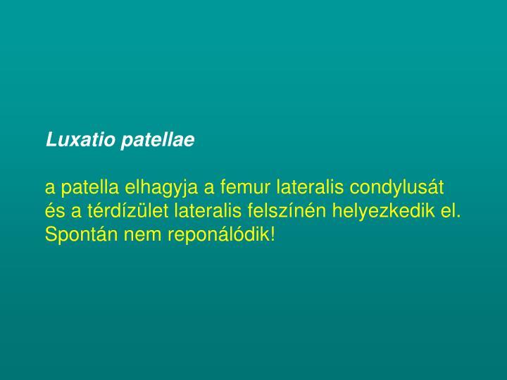 Luxatio patellae