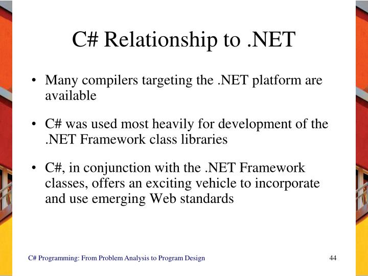 C# Relationship to .NET