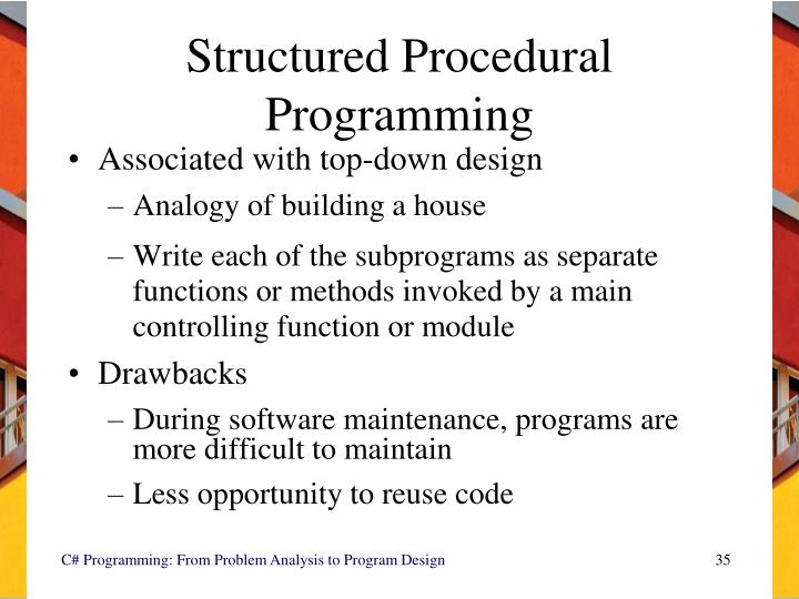 Structured Procedural Programming