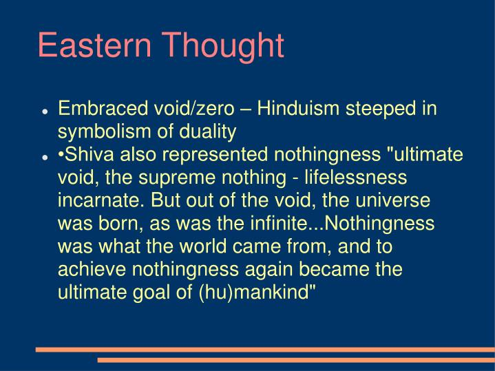 Eastern Thought