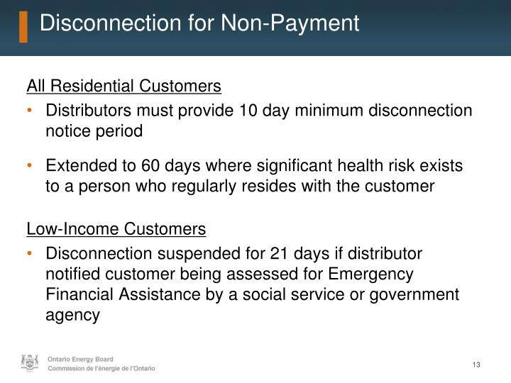 Disconnection for Non-Payment
