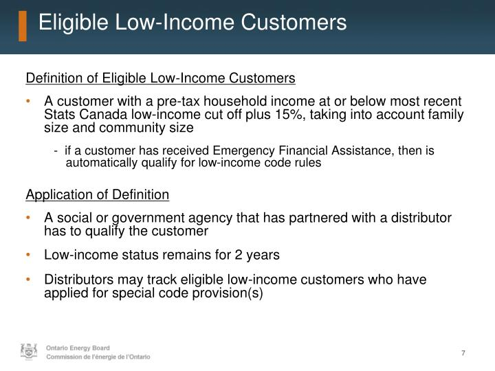 Eligible Low-Income Customers