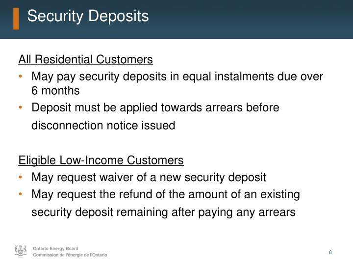 Security Deposits