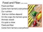 food and fiber john jacob