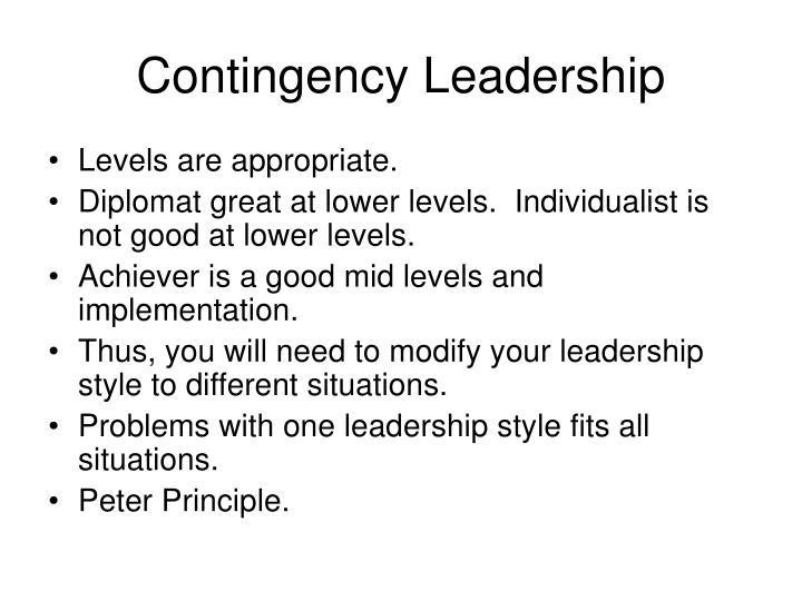 Contingency Leadership