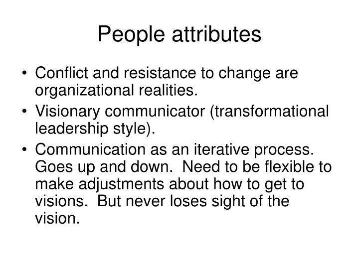 People attributes