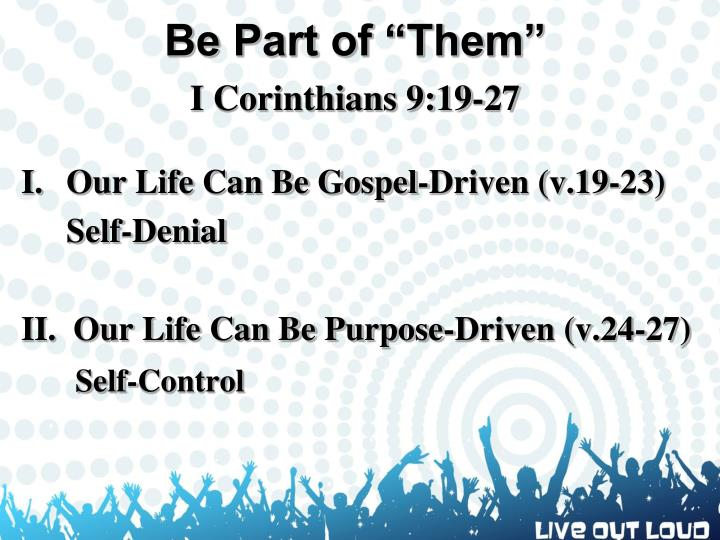 """Be Part of """"Them"""""""