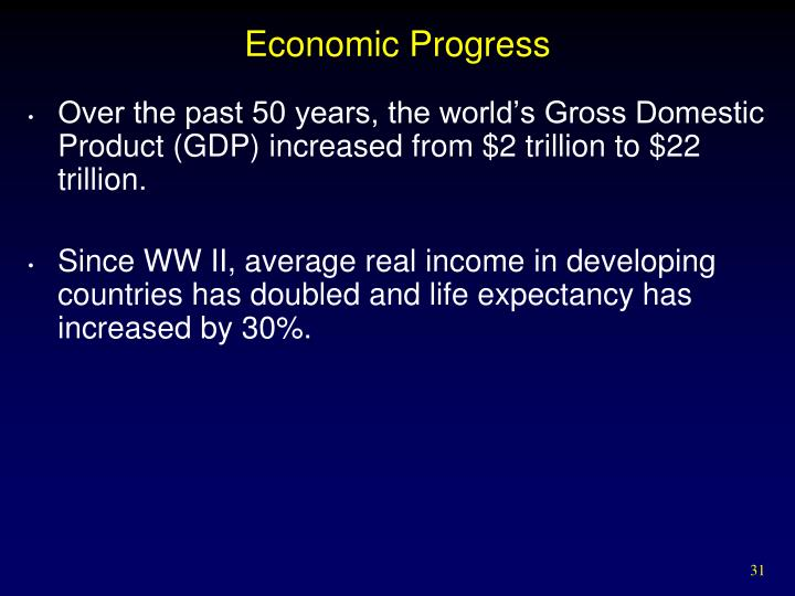 Economic Progress