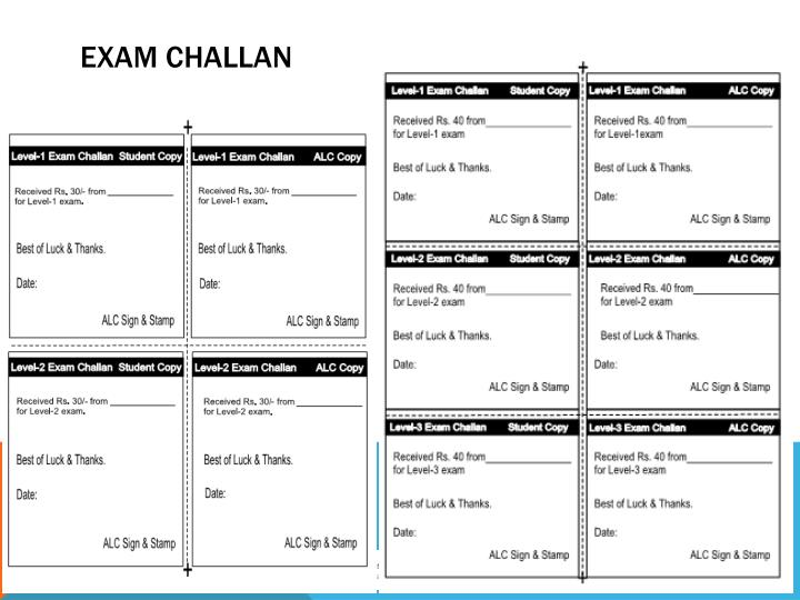 Exam Challan