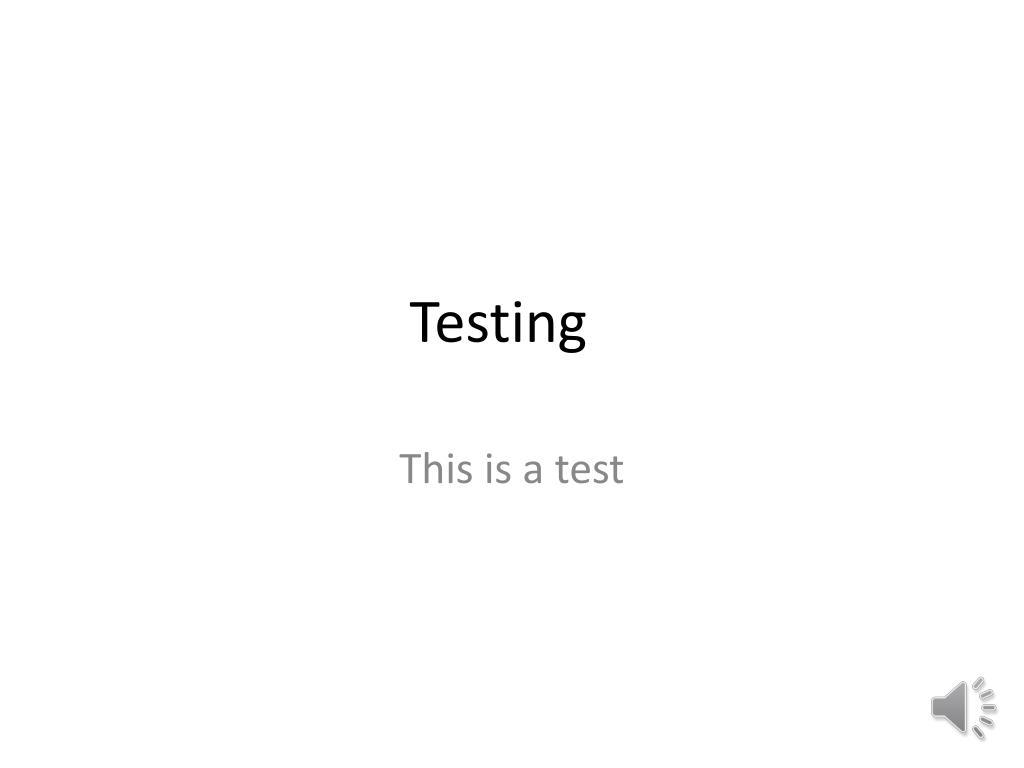 testing l.