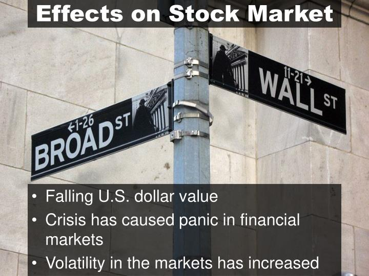 Effects on Stock Market