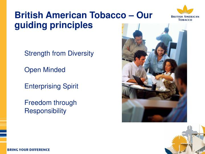 British American Tobacco – Our guiding principles
