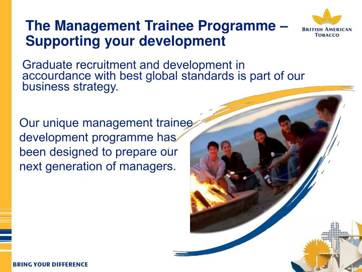 The Management Trainee Programme – Supporting your development