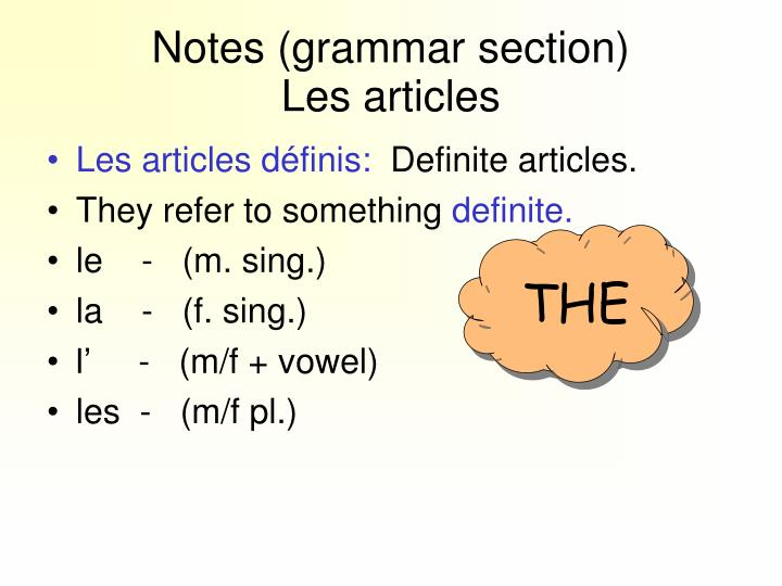 Notes (grammar section)
